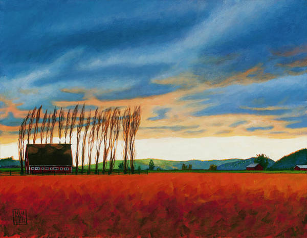 Skagit Valley Painting - Early Spring, Skagit Valley by Stacey Neumiller