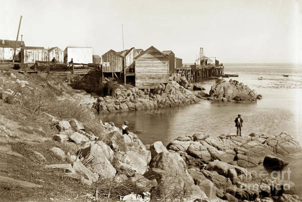 Photograph - Early View Of East Side Of Fisherman's Wharf Monterey Circa 1900 by California Views Archives Mr Pat Hathaway Archives