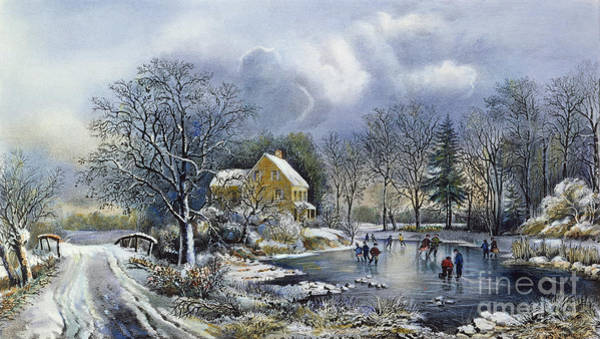 Painting - Early Winter, 1869 by Granger