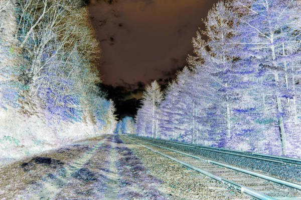 Photograph - Early Winter On The Tracks - Abstract by David Patterson