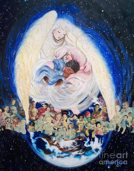 Painting - God Loves Children    Earth Angel by Sigrid Tune