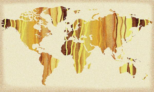 Painting - Earth Canvas Watercolor World Map by Irina Sztukowski