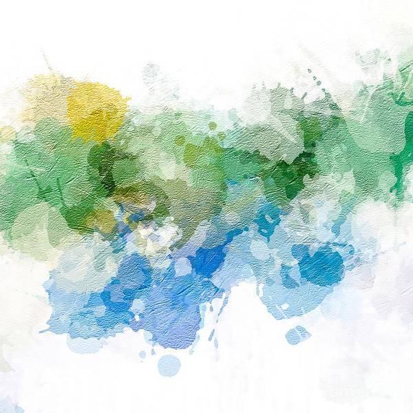 Digital Art - Earth Color Paint Splash by Sheila Wenzel
