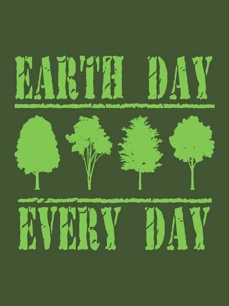 Wall Art - Digital Art - Earth Day Every Day by David G Paul