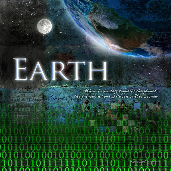 Earth Day Digital Art - Earth by Evie Cook