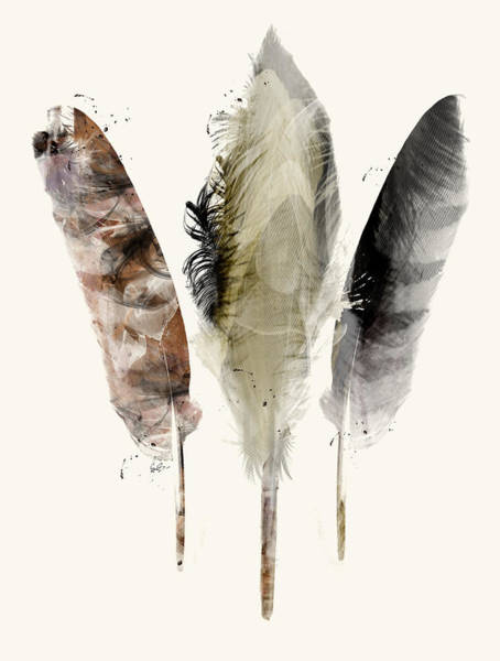 Feather Painting - Earth Feathers by Bri Buckley