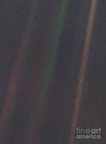 Pale Blue Dot Wall Art - Photograph - Earth From Voyager 1 by Science Source