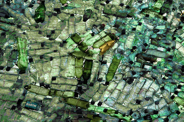Bottle Photograph - Earth by Gilbert Claes