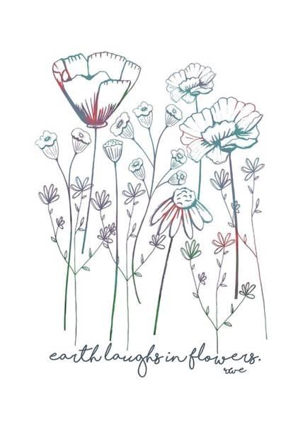 Digital Art - Earth Laughs In Flowers by Heather Applegate