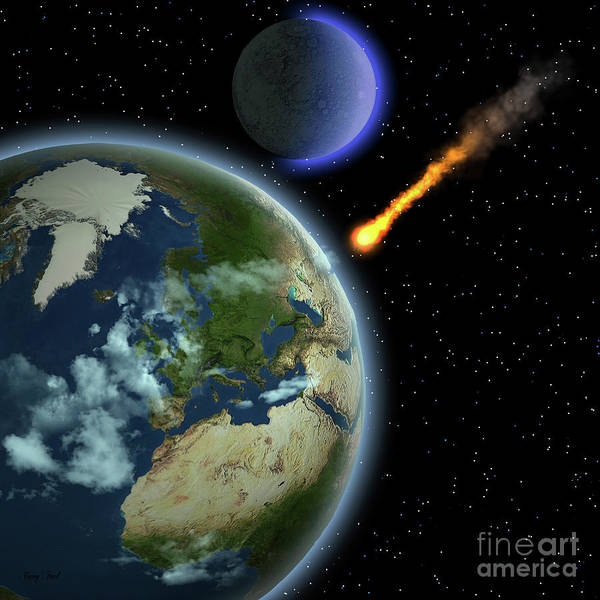 Wall Art - Painting - Earth Meteor by Corey Ford