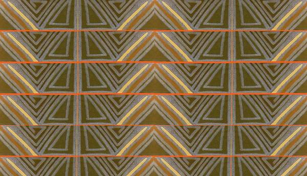 Angelic Beings Painting - Earth Triangles by Modern Metro Patterns and Textiles