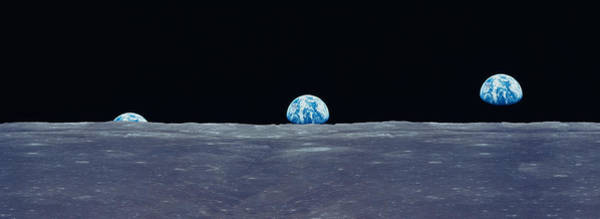 Earth Viewed From The Moon Art Print