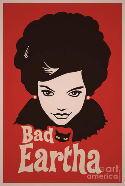 Wall Art - Digital Art - Eartha Kitt - That Bad Eartha Retro Poster by Monkey Crisis On Mars