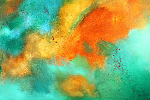 Sea Land Painting - Earthbound Abstract by Nancy Merkle