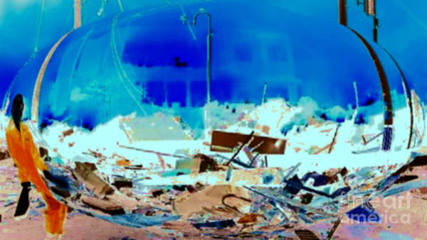Photograph - Earthquake In 3d by Stanley Morganstein