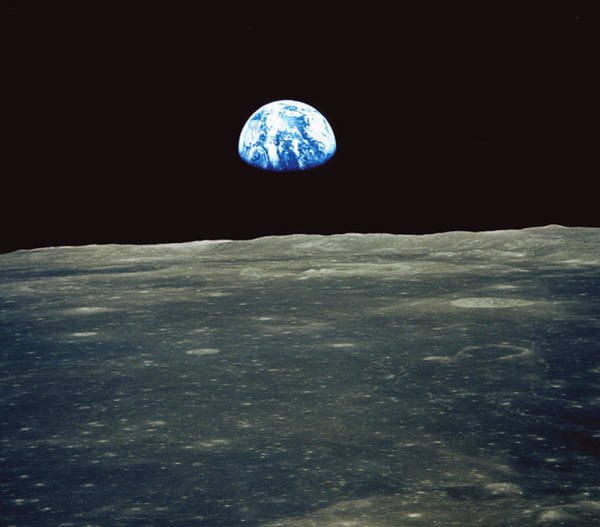 Photograph - Earthrise Photographed From Apollo 11 Spacecraft by Nasa