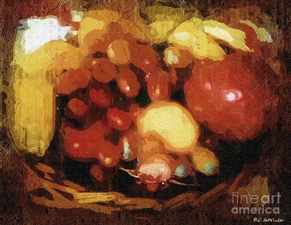 Painting - Earthtone Fruit Fresco by RC DeWinter