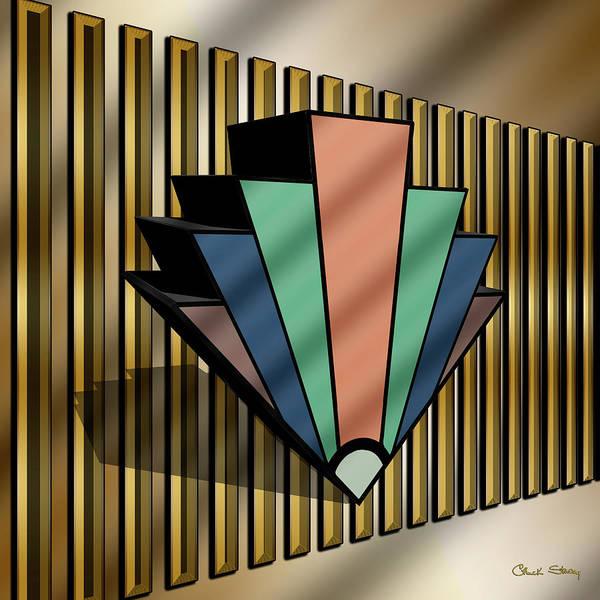 Digital Art - Earth Tones Chevron 3 D by Chuck Staley