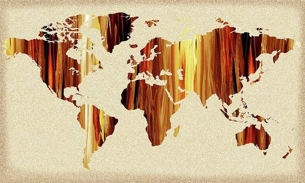 Painting - Earthy Glow World Map by Irina Sztukowski