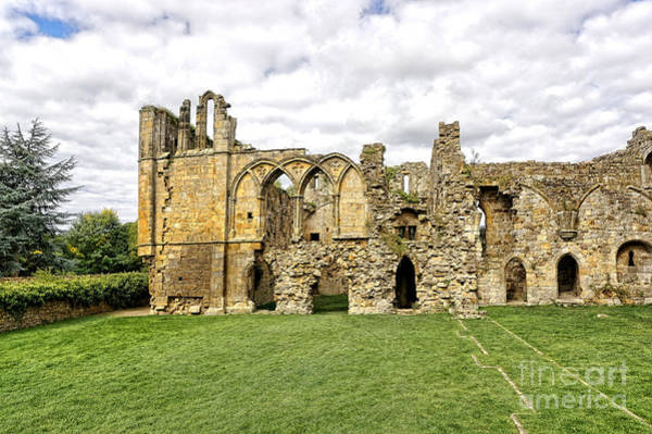Abbey Photograph - Easby Abbey by Smart Aviation
