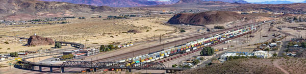 Photograph - East Barstow Rail Yard Panorama by Jim Thompson