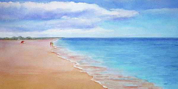 Painting - East Beach I by Janet Zeh