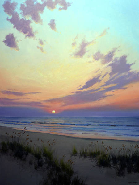 Sea Oats Painting - East Beach Sunrise by Armand Cabrera
