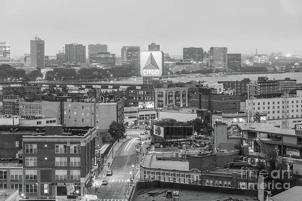 Wall Art - Photograph - East Cambrdige Boston Skyline Aerial Citgo Sign Photo by Paul Velgos