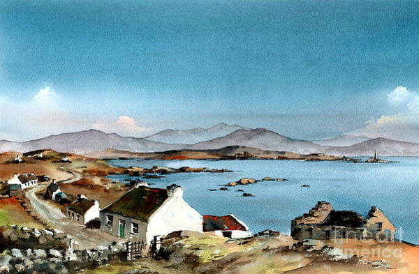 Painting - East End, Inishboffin, Galway by Val Byrne