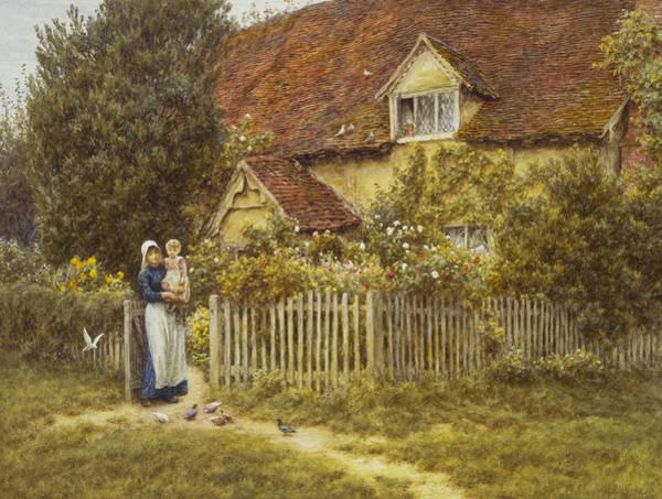 End Painting - East End Farm Moss Lane Pinner by Helen Allingham