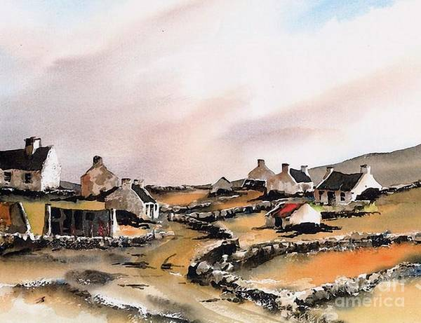 Galway Painting - East End Inishboffin  by Val Byrne
