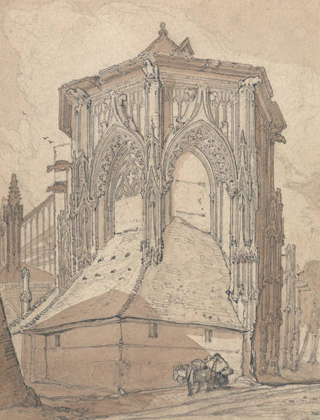 Drawing - East End Of Saint Jacques At Dieppe, Normandy by John Sell Cotman