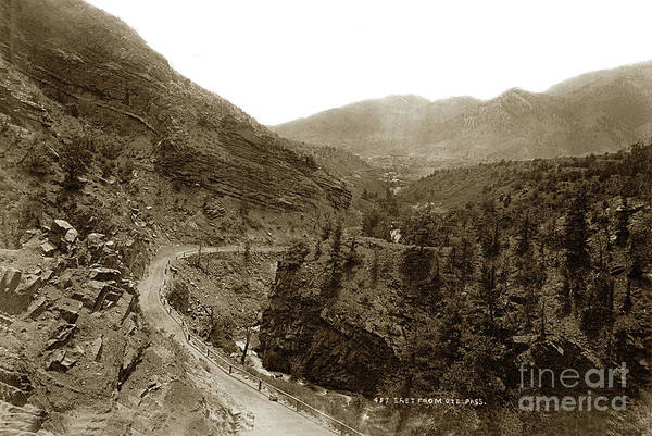 Photograph - East From  Ute Pass  Road Above Manitou Springs In The 1880s.  by California Views Archives Mr Pat Hathaway Archives