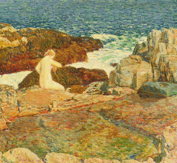 Wall Art - Painting - East Headland Pool by Childe Hassam