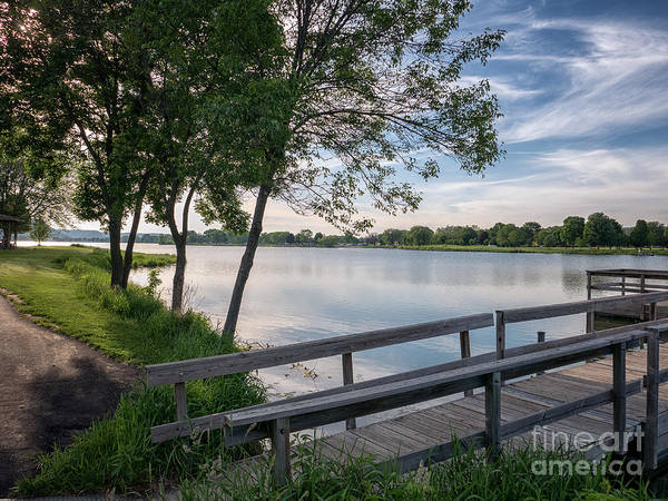 Photograph - East Lake Winona Fishing Pier by Kari Yearous