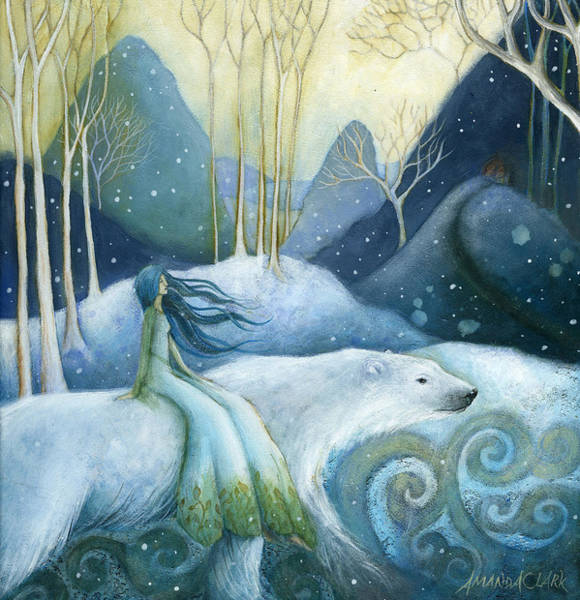 Christmas Painting - East Of The Sun West Of The Moon by Amanda Clark