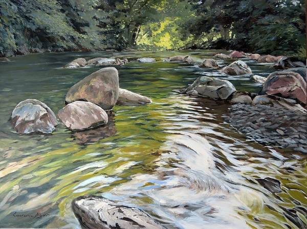 Painting - East Okement River by Lawrence Dyer