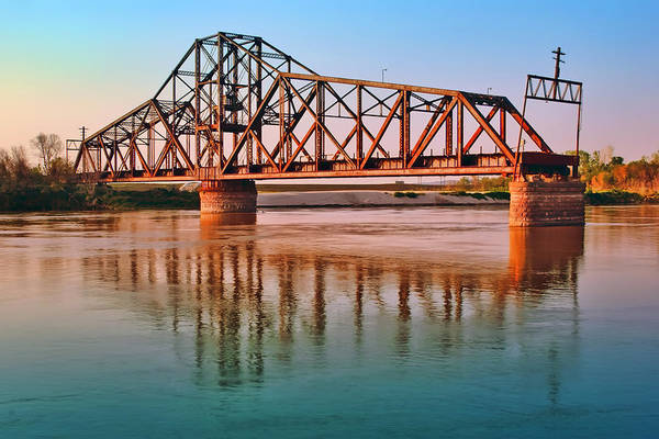 Canadian National Railway Photograph - East Omaha Bridge by Nikolyn McDonald