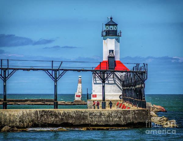 Photograph - East Pierhead Lighthouse In Michigan City by Nick Zelinsky