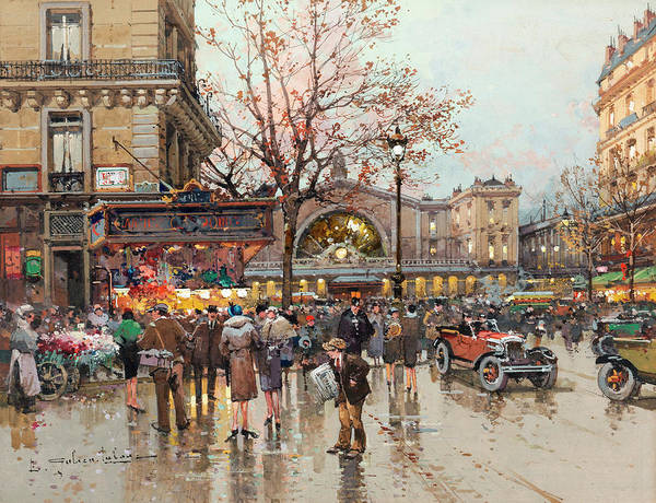Railway Painting - East Railway Station by Eugene Galien-Laloue