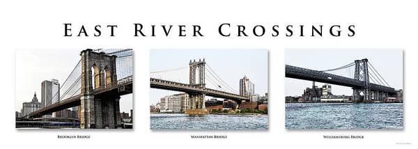 Photograph - East River Crossings by Frank Mari