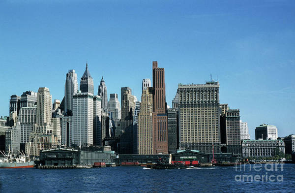 Photograph - East River New York City October 1957 by California Views Archives Mr Pat Hathaway Archives