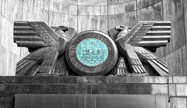 Wall Art - Photograph - East River Savings Bank Logo by Dave Mills