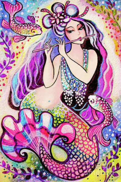Painting - East Sea Mermaid by Eva Campbell
