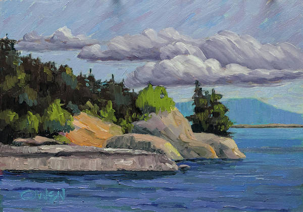 Painting - East Sooke 2017 by Rob Owen