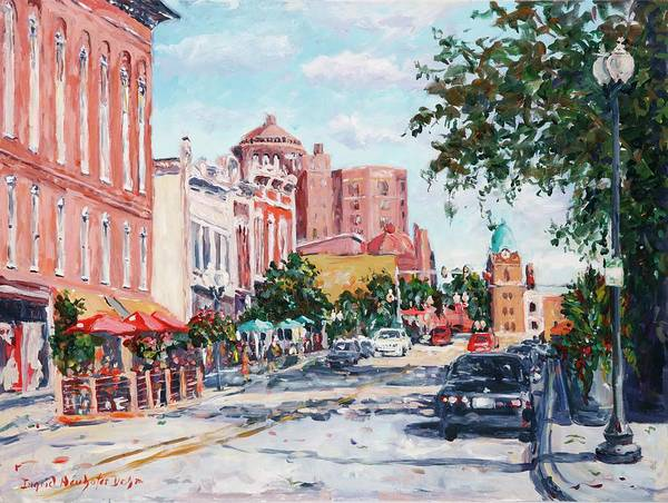 Painting - East State Street by Ingrid Dohm