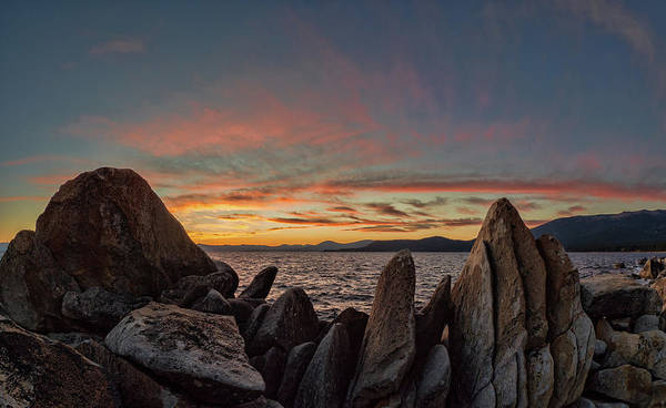 Photograph - East Tahoe Sunset by Martin Gollery