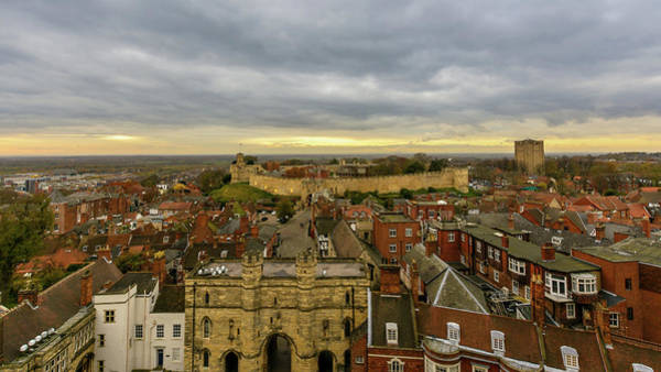 Photograph - East View Of Lincoln, England by Jacek Wojnarowski