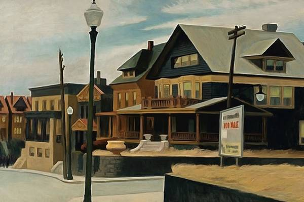 Photograph - East Wind Over Weehawken by Edward Hopper