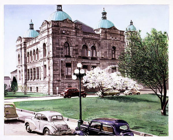 Painting - East Wing Legislative Buildings by David Lloyd Glover